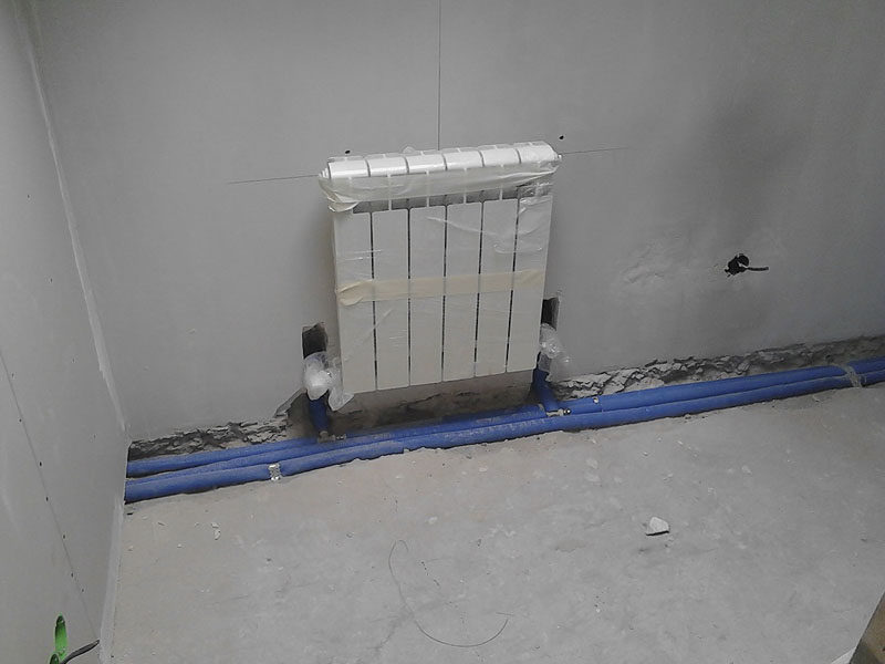 Установка радиатора цена
